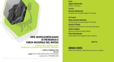 Ente Geopaleontologico di Pietraroja e Parco Nazionale del Matese.
